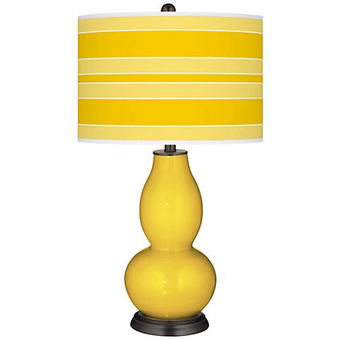 Citrus Bold Stripe Double Gourd Table Lamp