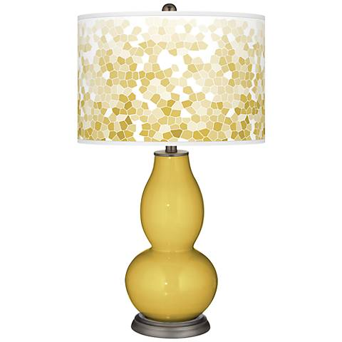 Nugget Mosaic Giclee Double Gourd Table Lamp