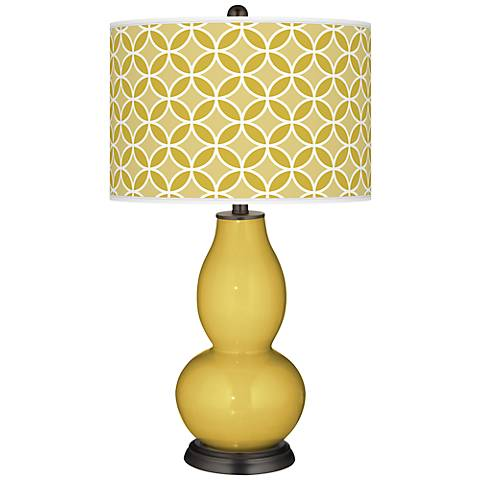 Nugget Circle Rings Double Gourd Table Lamp