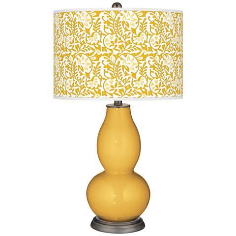 Goldenrod Gardenia Double Gourd Table Lamp