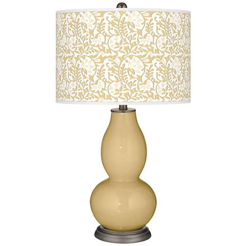 Humble Gold Gardenia Double Gourd Table Lamp