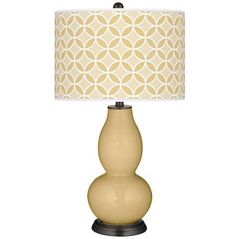 Humble Gold Circle Rings Double Gourd Table Lamp