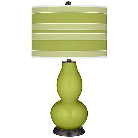 Parakeet Bold Stripe Double Gourd Table Lamp
