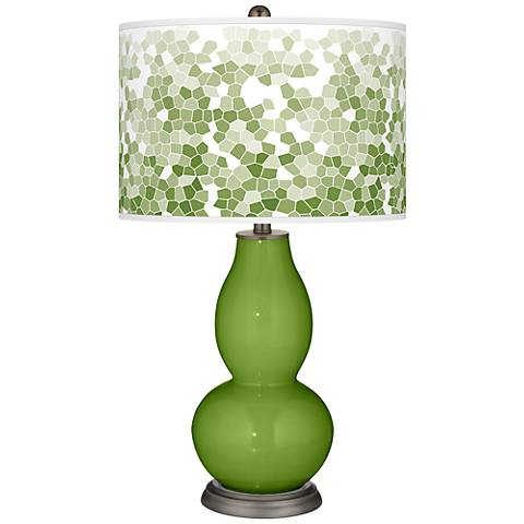 Gecko Mosaic Giclee Double Gourd Table Lamp
