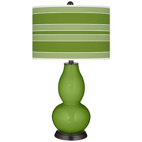 Gecko Bold Stripe Double Gourd Table Lamp