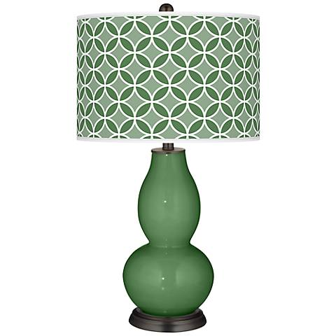 Garden Grove Circle Rings Double Gourd Table Lamp