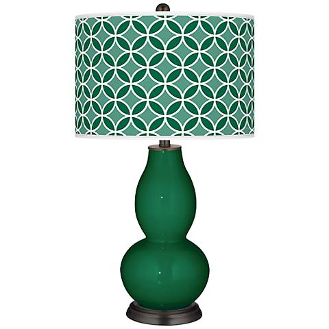 Greens Circle Rings Double Gourd Table Lamp