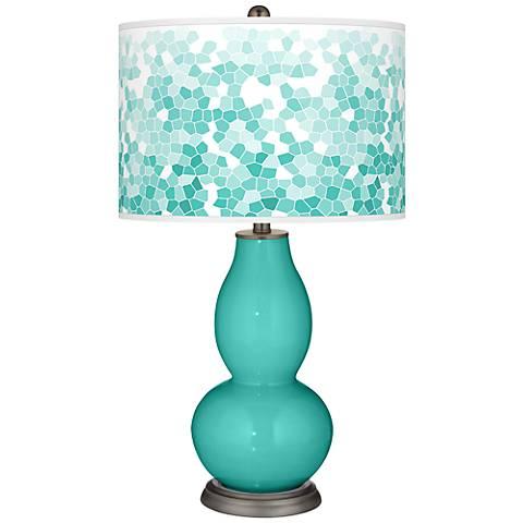 Synergy Mosaic Giclee Double Gourd Table Lamp