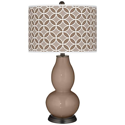 Mocha Circle Rings Double Gourd Table Lamp