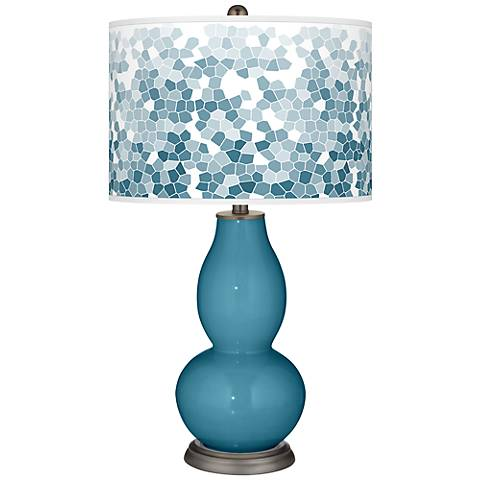 Great Falls Mosaic Giclee Double Gourd Table Lamp