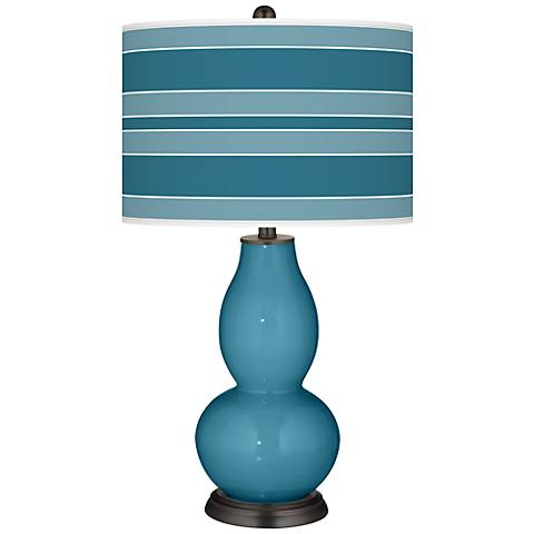 Great Falls Bold Stripe Double Gourd Table Lamp