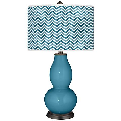 Great Falls Narrow Zig Zag Double Gourd Table Lamp