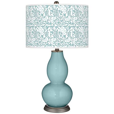 Raindrop Gardenia Double Gourd Table Lamp
