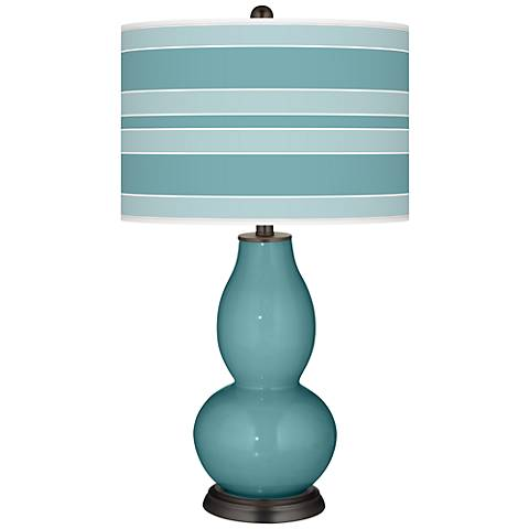 Reflecting Pool Bold Stripe Double Gourd Table Lamp