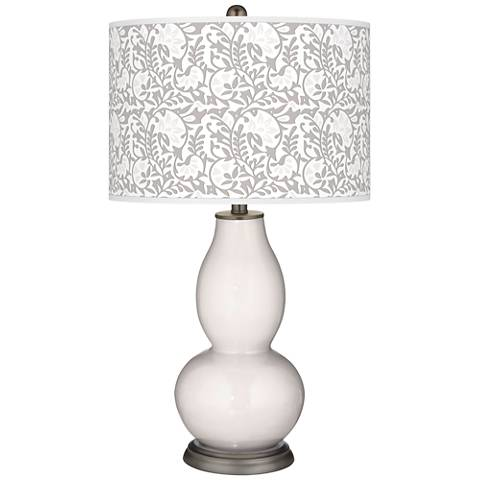 Smart White Gardenia Double Gourd Table Lamp