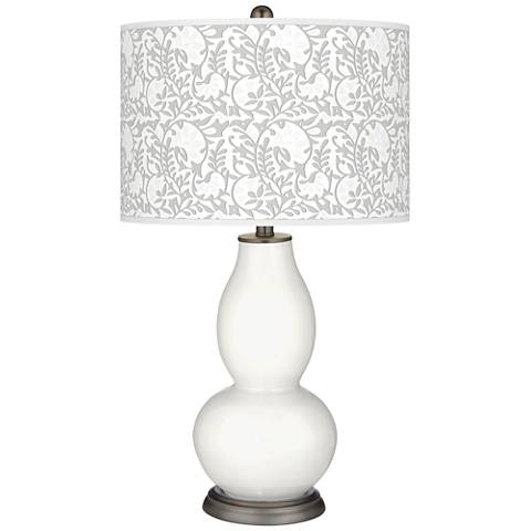 Winter White Gardenia Double Gourd Table Lamp