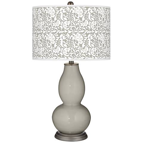 Requisite Gray Gardenia Double Gourd Table Lamp