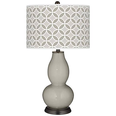 Requisite Gray Circle Rings Double Gourd Table Lamp