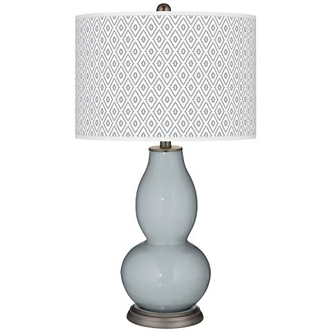 Uncertain Gray Diamonds Double Gourd Table Lamp