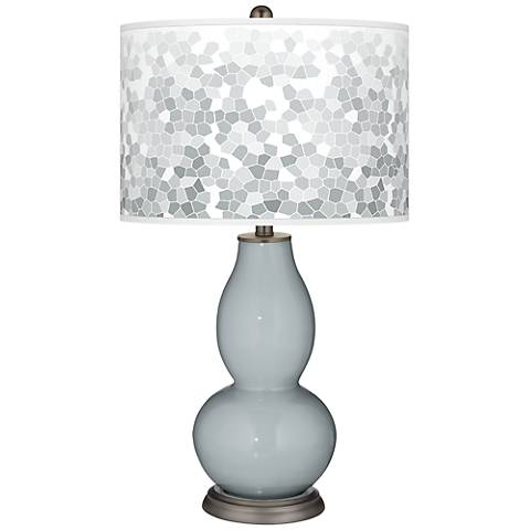 Uncertain Gray Mosaic Giclee Double Gourd Table Lamp