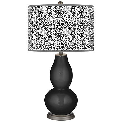 Tricorn Black Gardenia Double Gourd Table Lamp