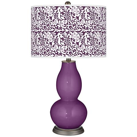 Kimono Violet Gardenia Double Gourd Table Lamp