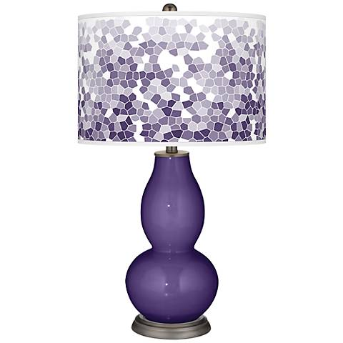 Izmir Purple Mosaic Giclee Double Gourd Table Lamp