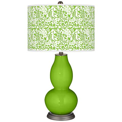 Neon Green Gardenia Double Gourd Table Lamp