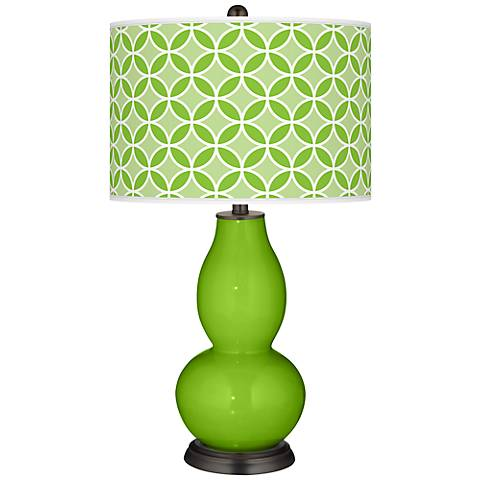 Neon Green Circle Rings Double Gourd Table Lamp