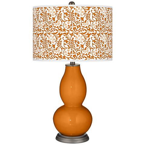 Cinnamon Spice Gardenia Double Gourd Table Lamp