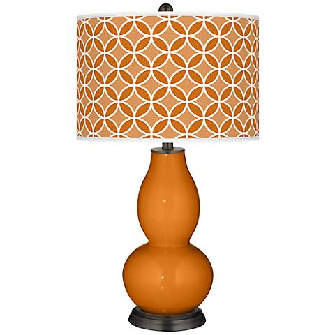 Cinnamon Spice Circle Rings Double Gourd Table Lamp