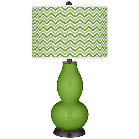 Rosemary Green Narrow Zig Zag Double Gourd Table Lamp