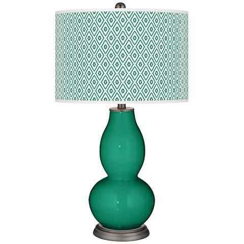 Emerald Diamonds Double Gourd Table Lamp