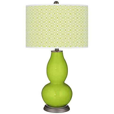 Tender Shoots Diamonds Double Gourd Table Lamp