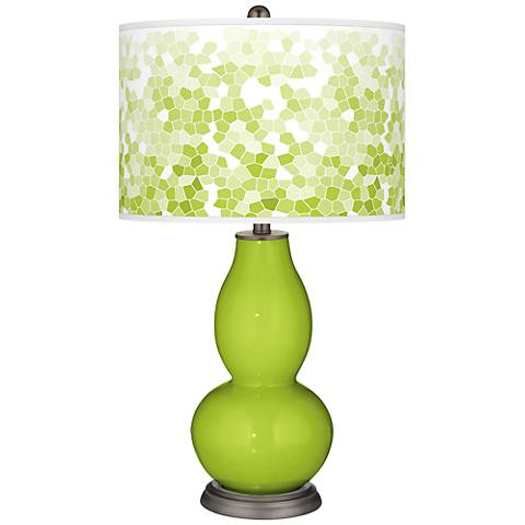 Tender Shoots Mosaic Giclee Double Gourd Table Lamp
