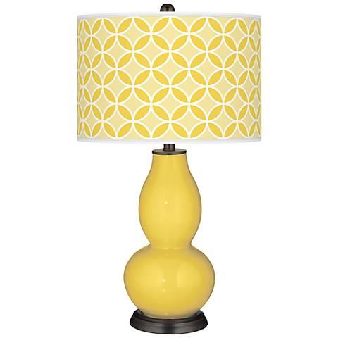 Lemon Zest Circle Rings Double Gourd Table Lamp