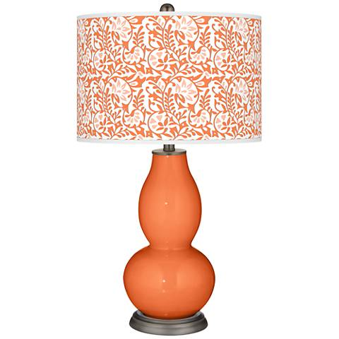 Nectarine Gardenia Double Gourd Table Lamp