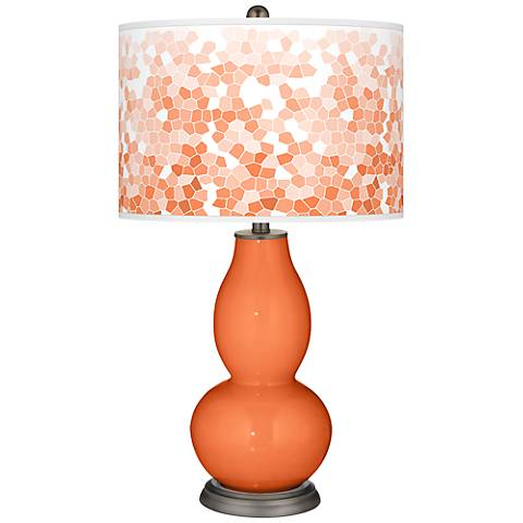 Nectarine Mosaic Giclee Double Gourd Table Lamp