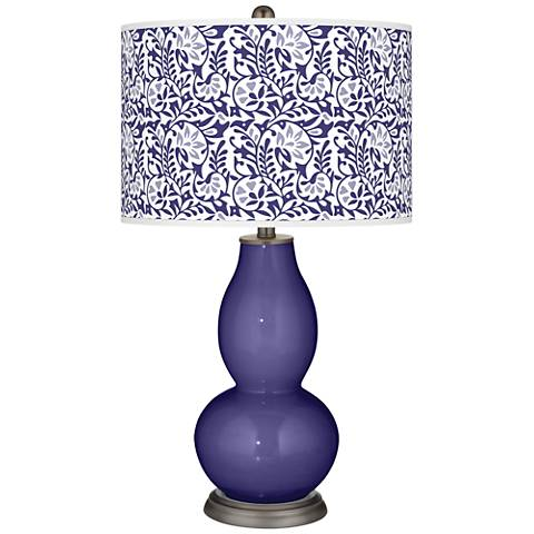 Valiant Violet Gardenia Double Gourd Table Lamp