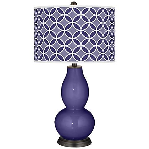 Valiant Violet Circle Rings Double Gourd Table Lamp