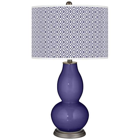 Valiant Violet Diamonds Double Gourd Table Lamp