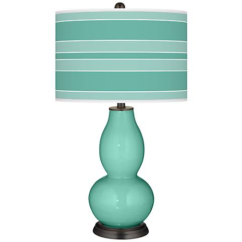 Larchmere Bold Stripe Double Gourd Table Lamp