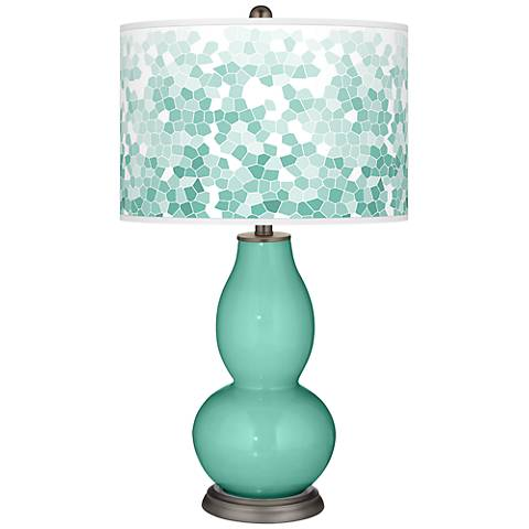 Larchmere Mosaic Giclee Double Gourd Table Lamp