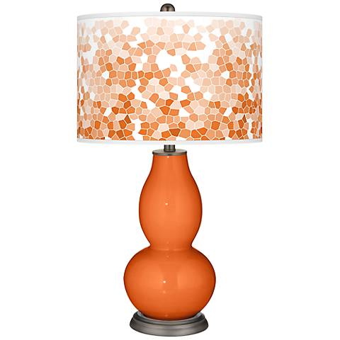 Invigorate Mosaic Giclee Double Gourd Table Lamp