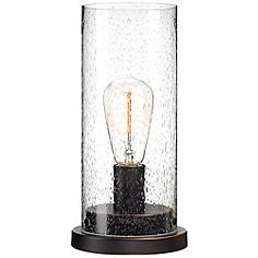 "Libby Seeded Glass 12"" High Edison Bulb Accent Lamp"