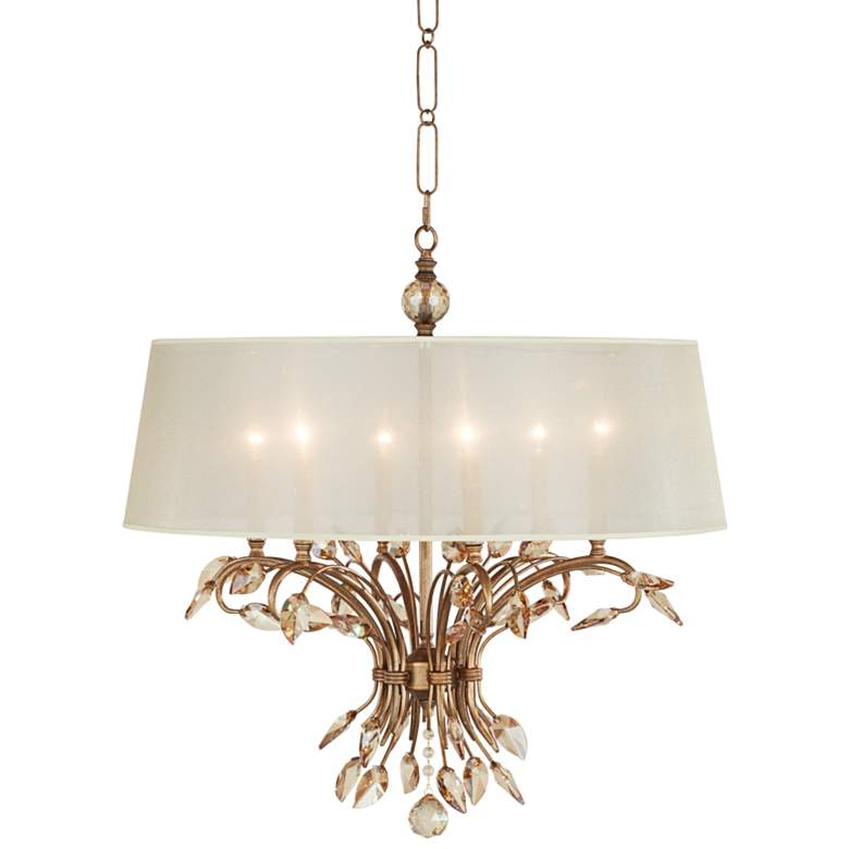 "Uttermost Alenya 29"" Wide Burnished Gold Chandelier"